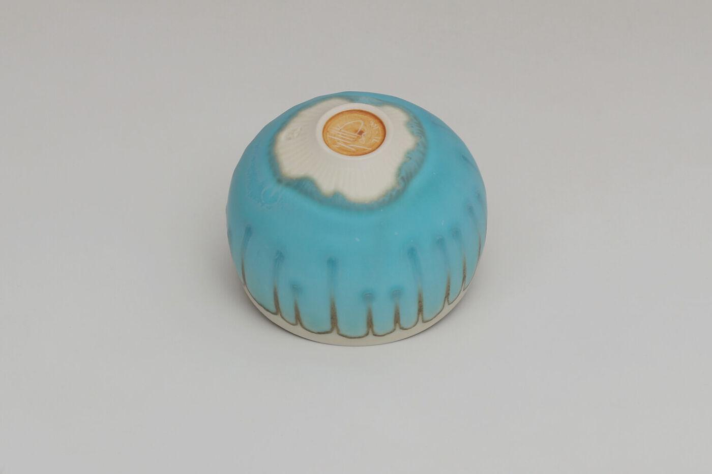 Peter Wills Ceramic Blue Porcelain Bowl 208
