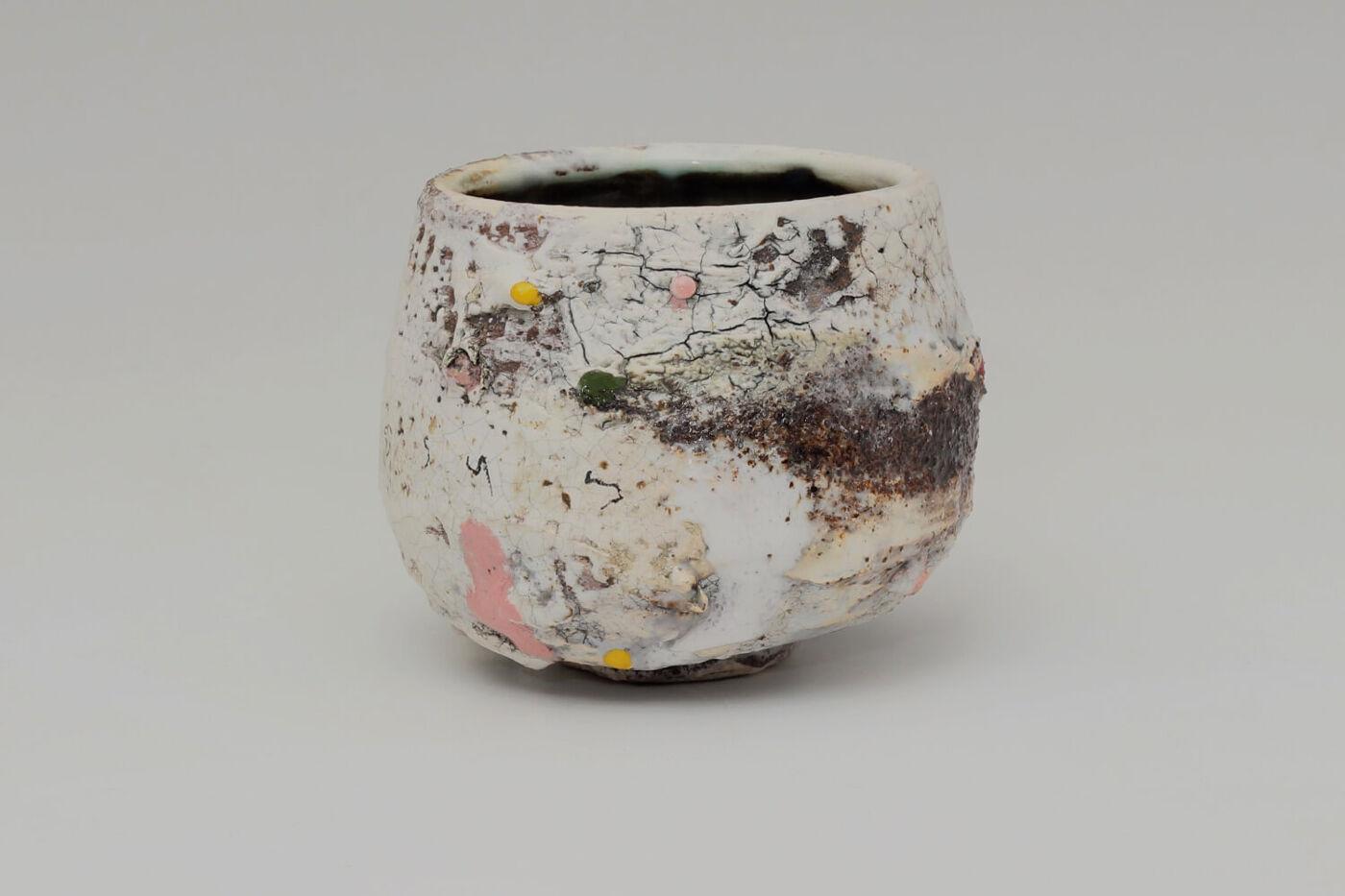 Sam Hall Ceramic Footed Bowl 044