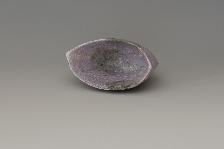 Carolyn Genders Ceramic Earthenware Vessel 'Speckled Violet I'