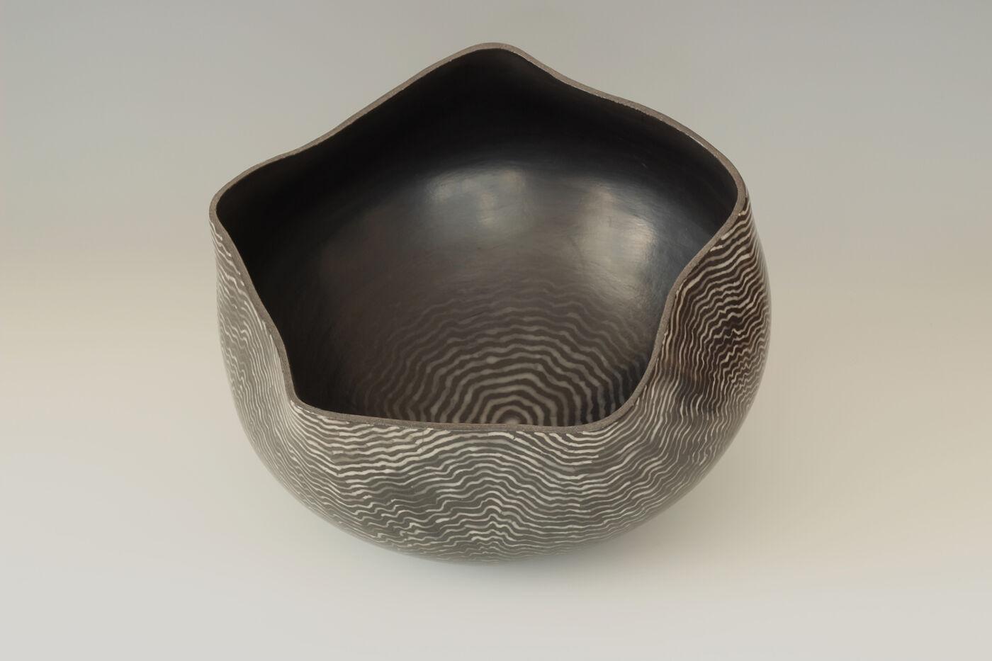 David Roberts Ceramic 'Ripple Bowl'