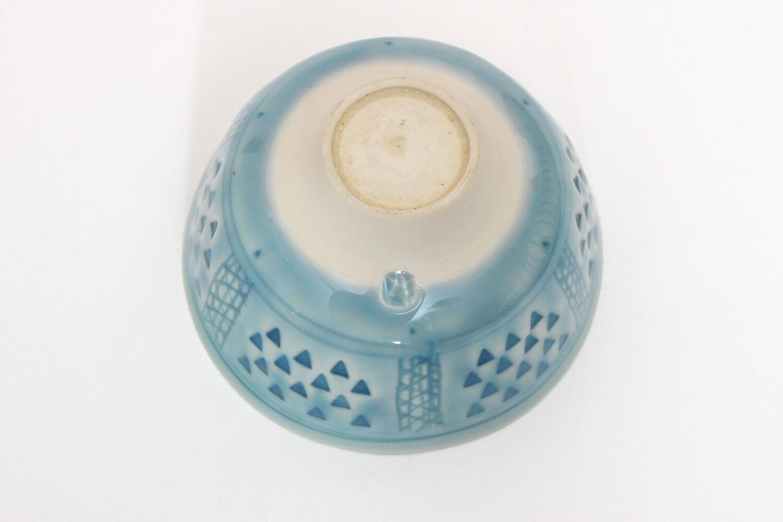 Peter Wills Impressed Light Blue Porcelain Bowl 147
