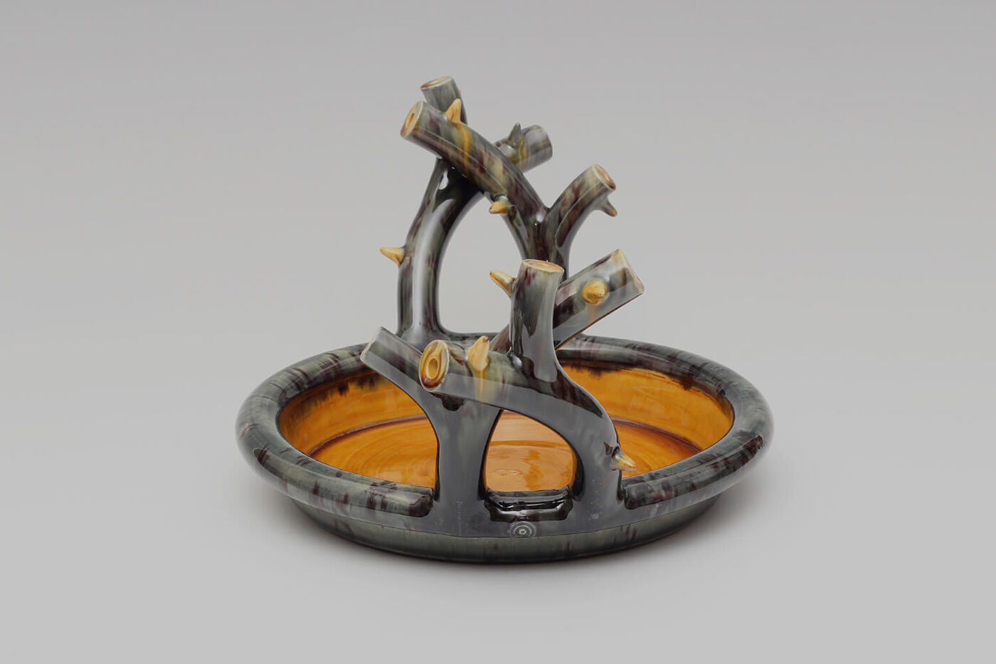 Walter Keeler Ceramic Thorn Handled Shallow Dish 05