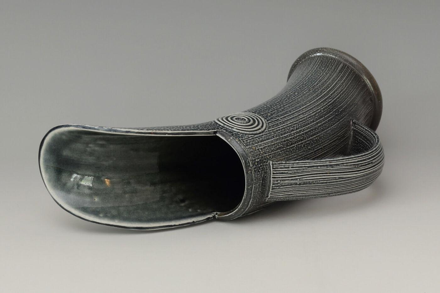 Walter Keeler Ceramic Salt Glazed Jug 054