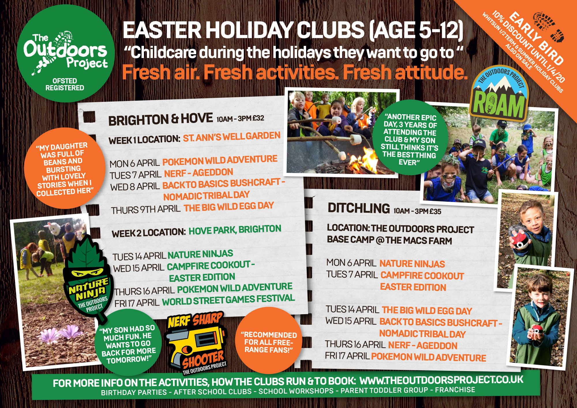 Holiday Clubs Brighton, Hove & Ditching