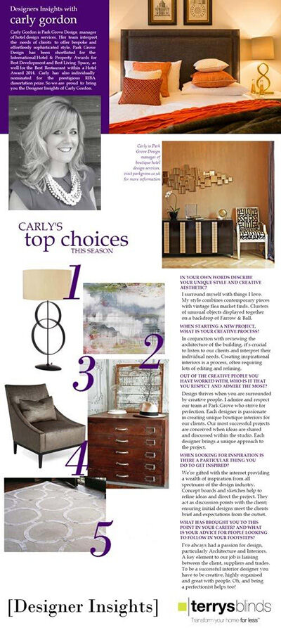 Park Grove - Design Insights with Carly Gordon, Article