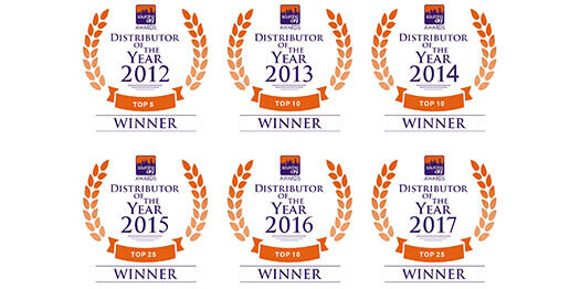Navillus Print Gifts Distributor or the Year Awards 2012-2017