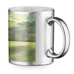 Silver Mug with Colour Print