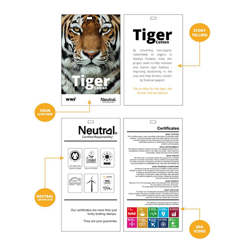 Tiger Cotton Clothing Tags