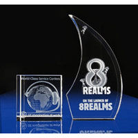 Engraved Crystal 3D Corporate Awards