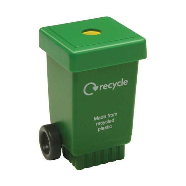 Eco Wheelie Bin Pencil Sharpener - Green
