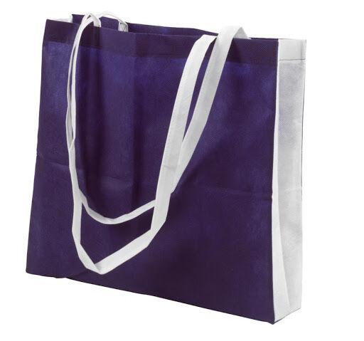 Non-woven long handled shoppers