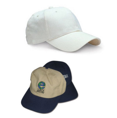 Branded Baseball Caps made from Recycled Materials