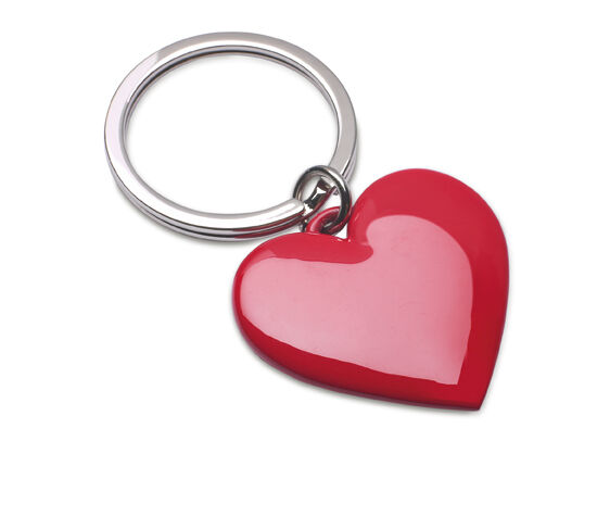 Engraved Promotional Heart Shaped Keyrings