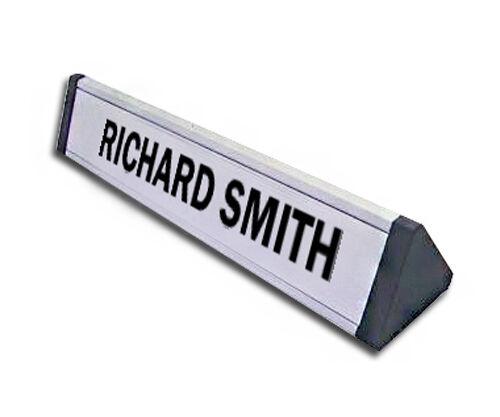 Personalised Aluminium Desk Name Plates