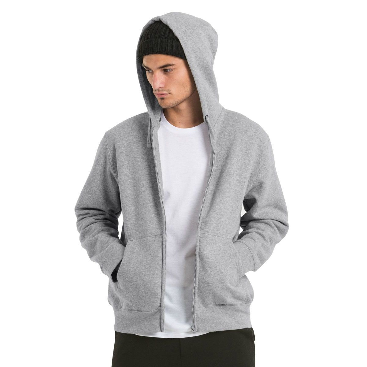 B&C Hooded Mens Full Zip Sweatshirt