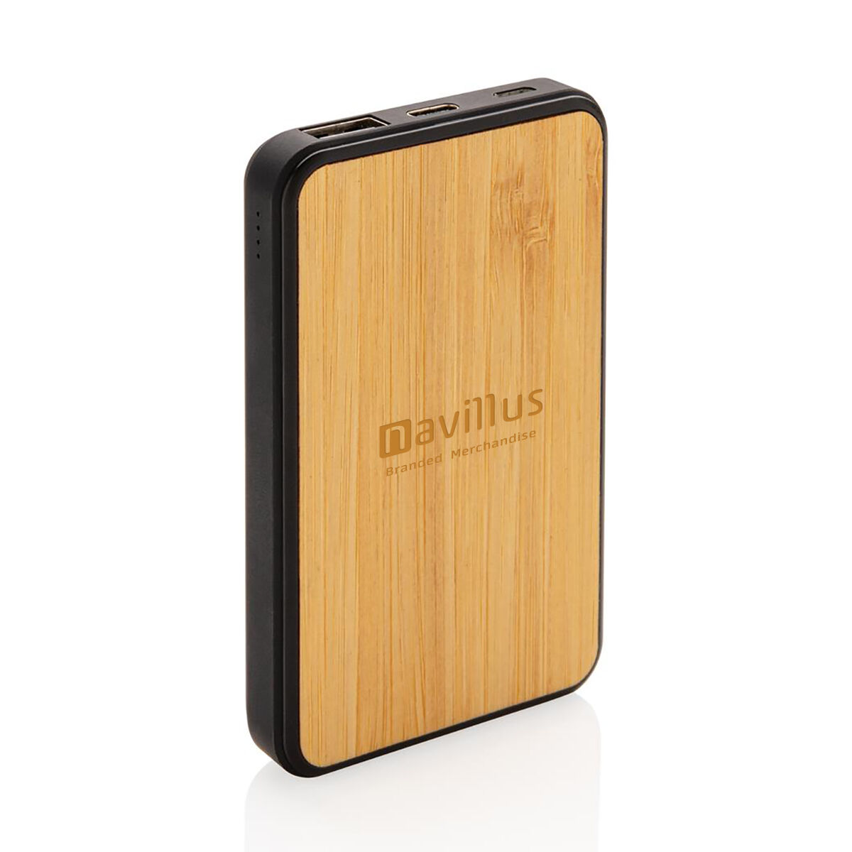 Bamboo Powerbank engraved