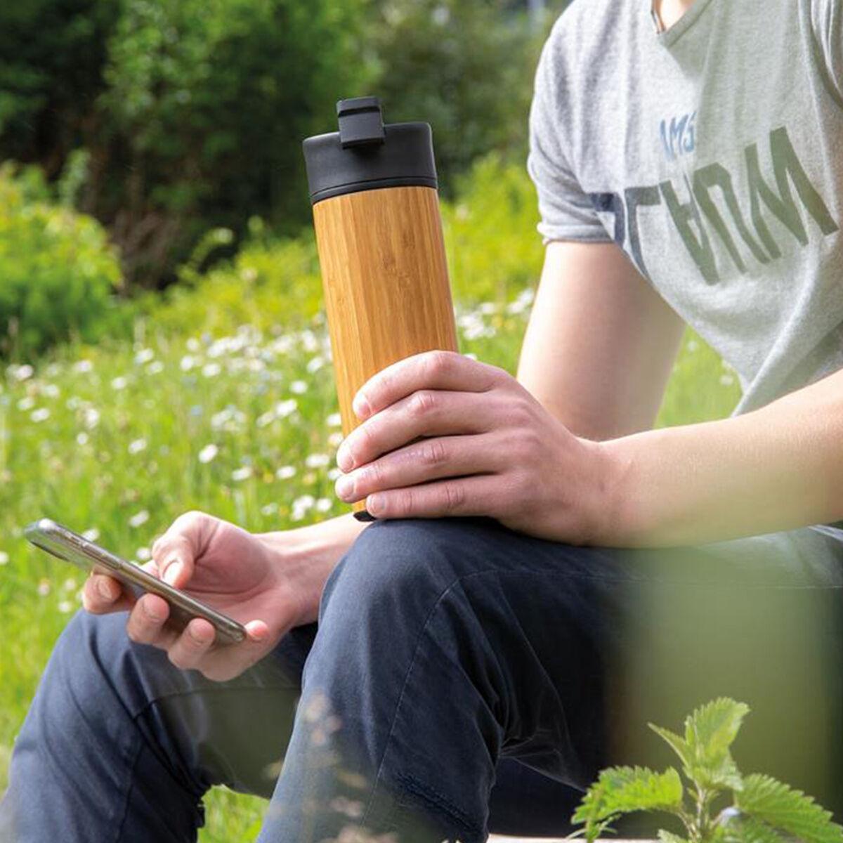 Bamboo Vacuum Tumbler