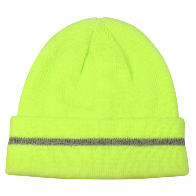 Hi Vis Reflective Beanie Hats - Yellow