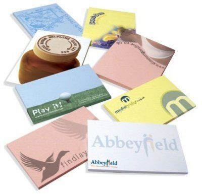 Branded Sticky Notepads in Various Shapes