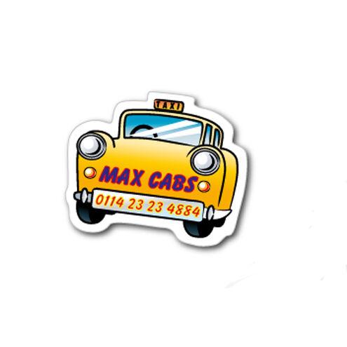 Fridge Magnet Shapes - Taxi