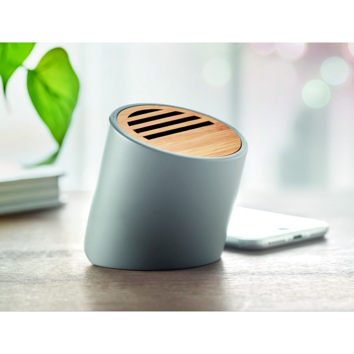 Cement and Bamboo Wireless Speaker