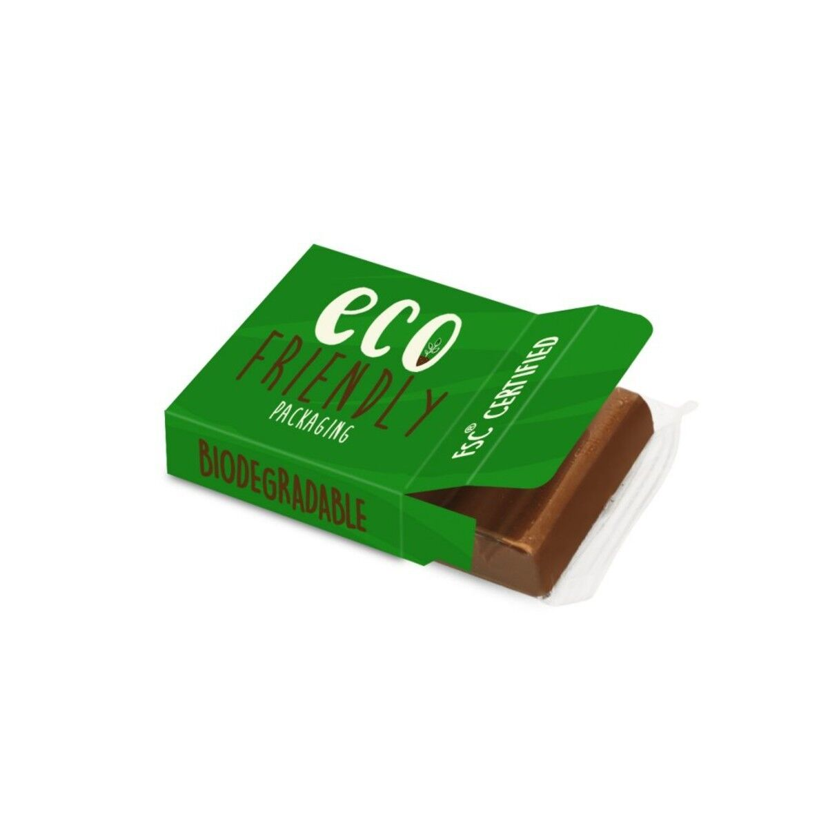 Chocolate Bar in Compostable Packaging 19g