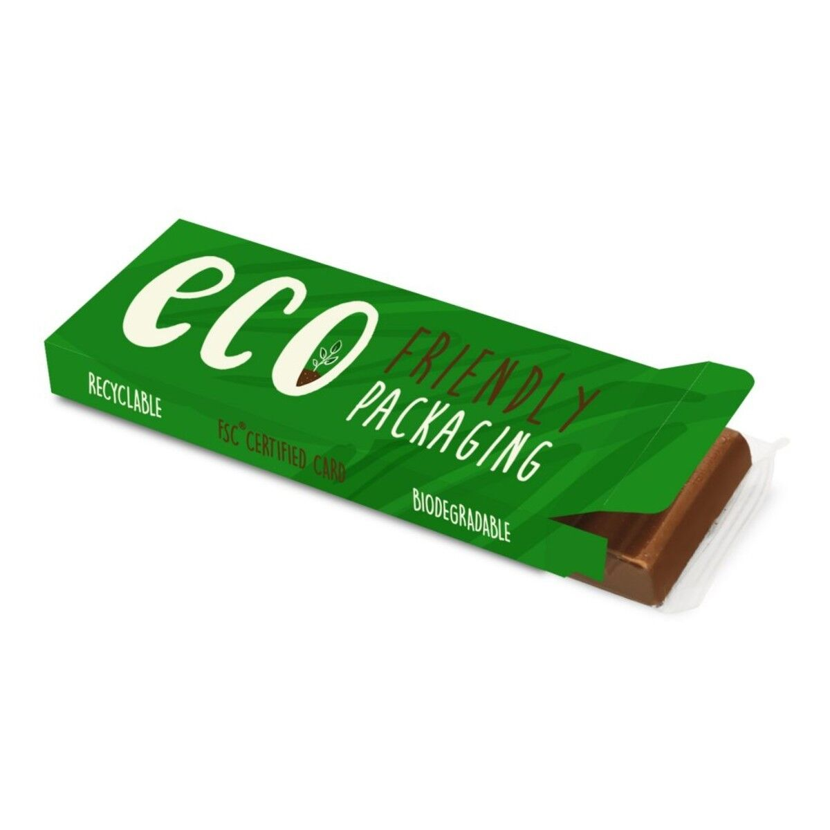 Chocolate Bar in Compostable Packaging 68g