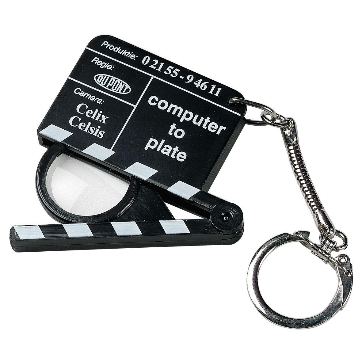 Clapper Board Magnifier Keyring