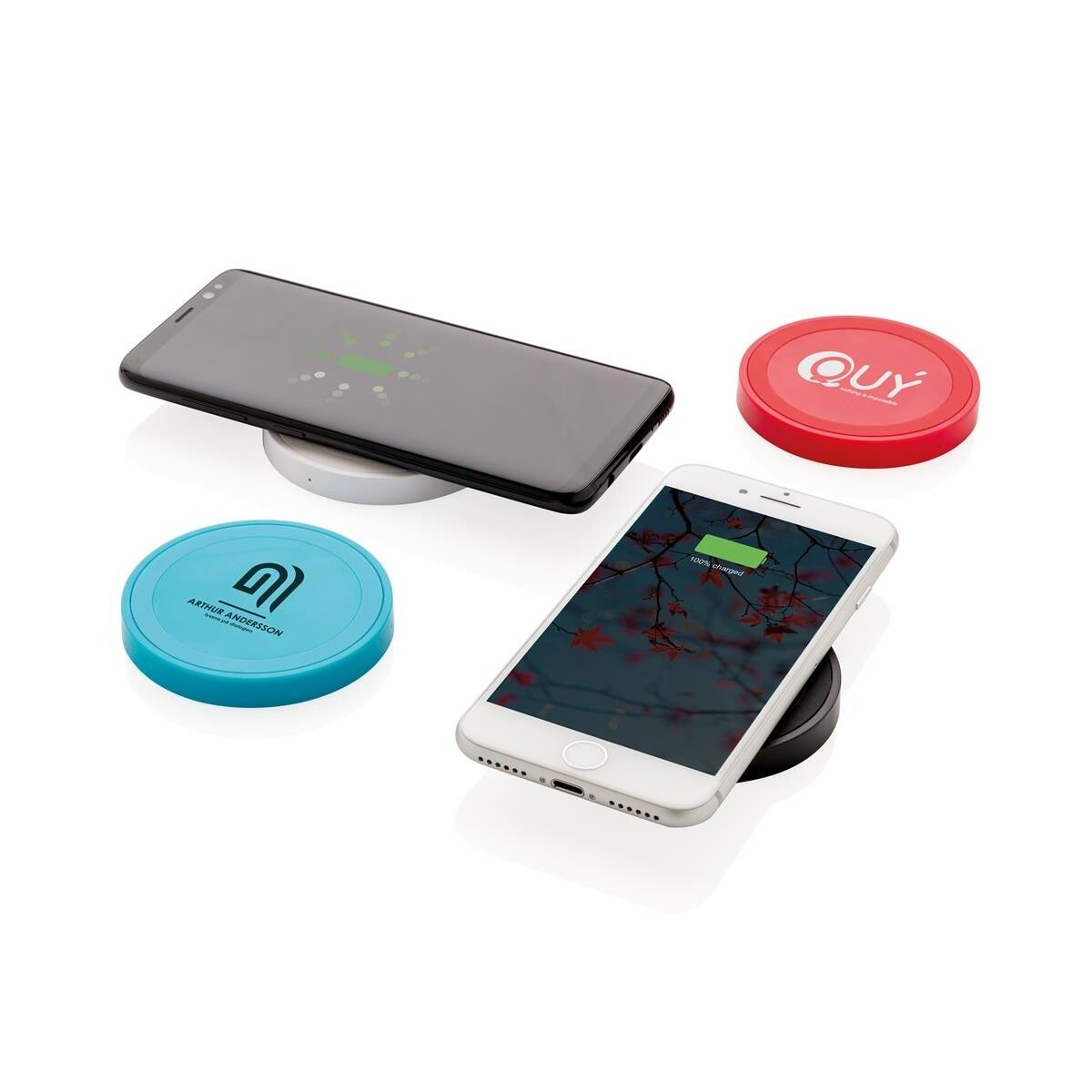 Colour Wireless charging pad round