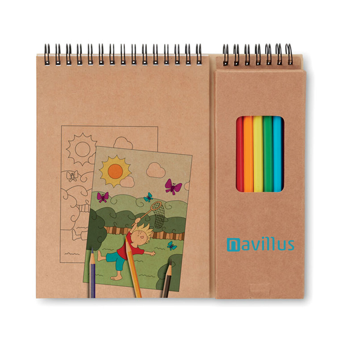 Kids Colouring Set With Pencils