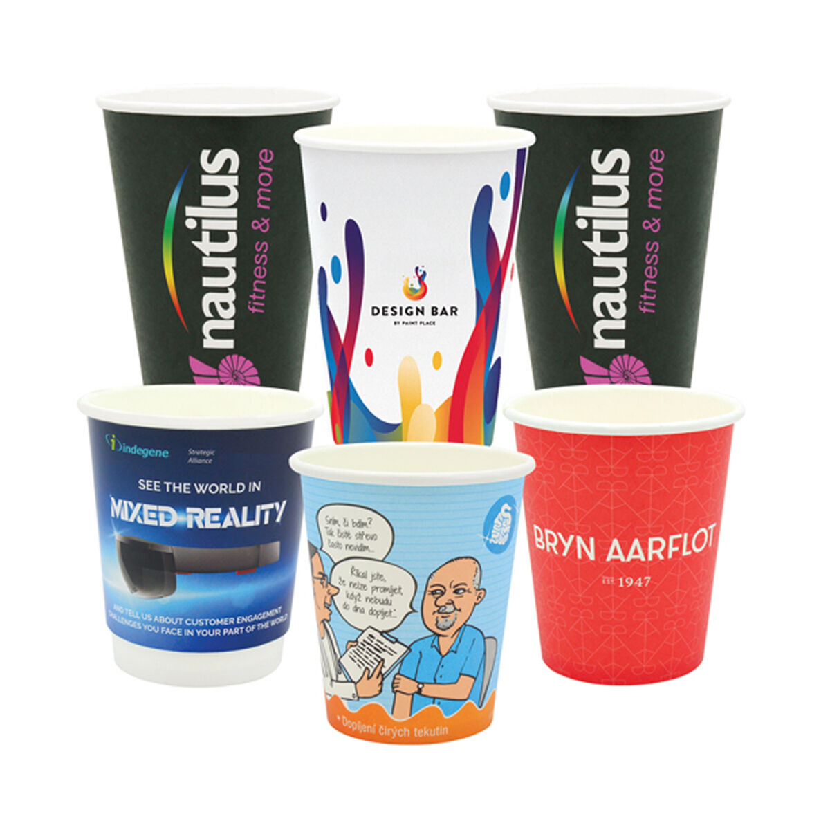 Compostable Printed Paper Cups