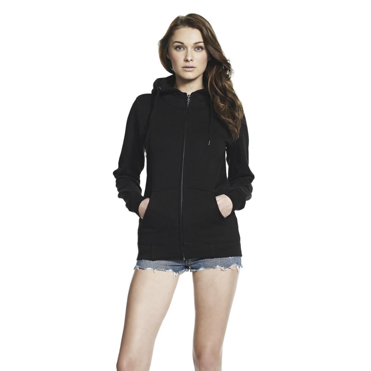 Ladies Continental Embroidered Hooded Sweatshirt