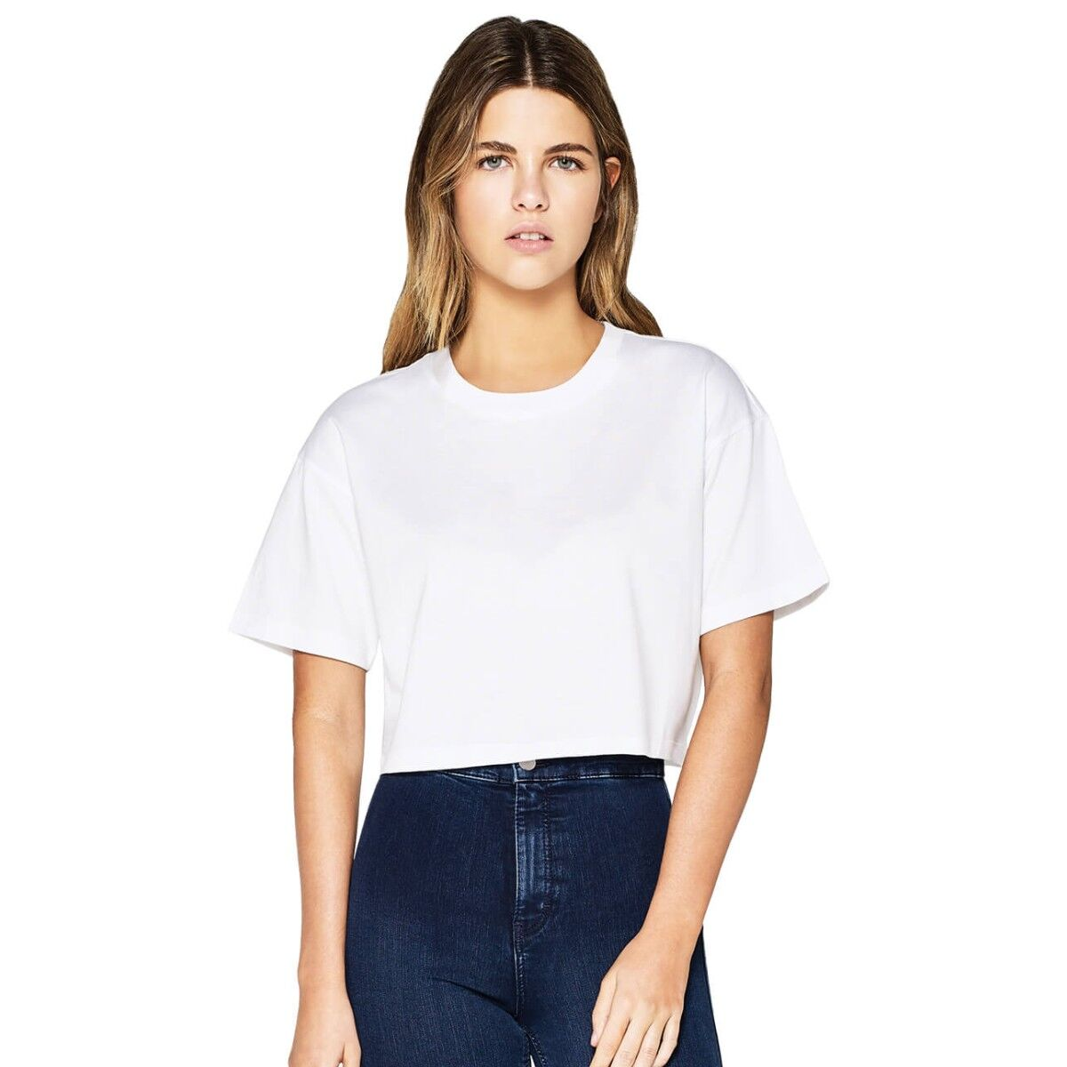 Ladies Earth Positive Cropped Loose Fit T-shirt