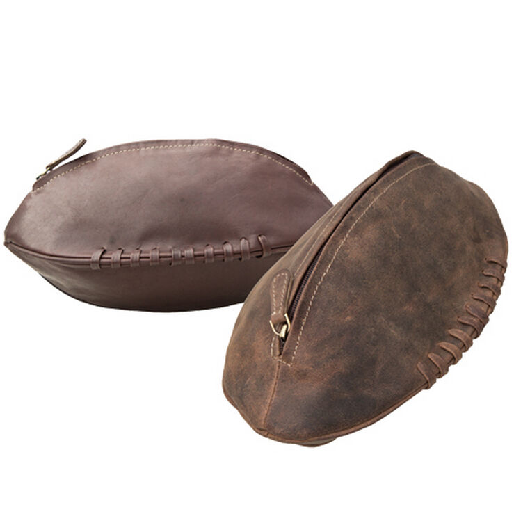 Leather Rugby Ball Washbags