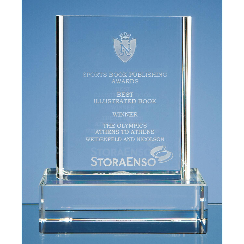 Customised Crystal Block Trophy Awards