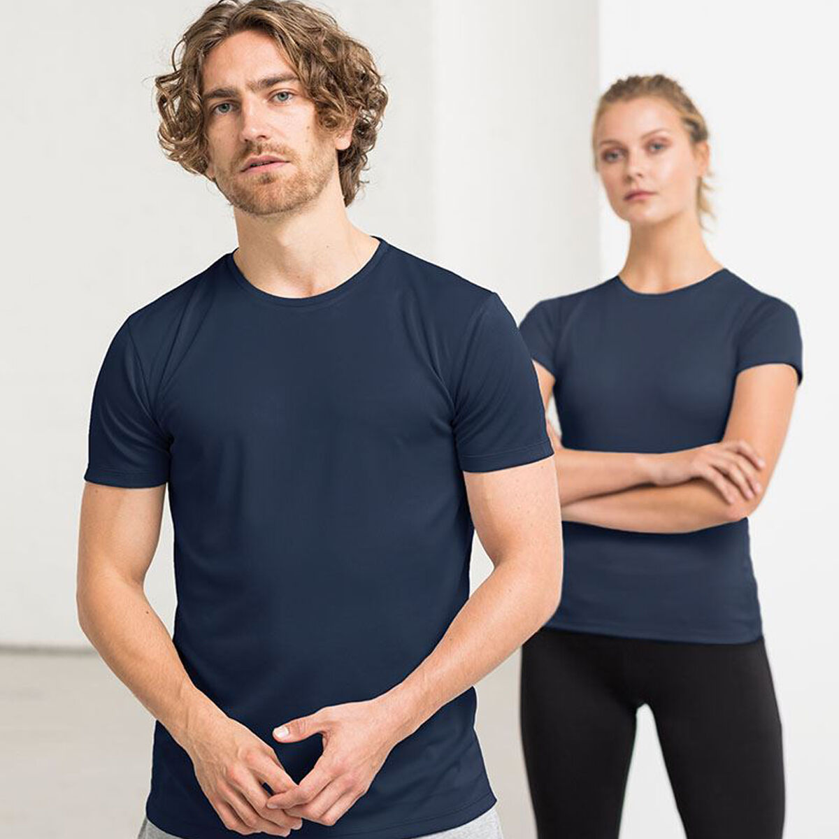 Ecologie Brand Recycled Performance Shirt in blue