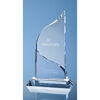 Engraved Crystal Flat Mounted Awards