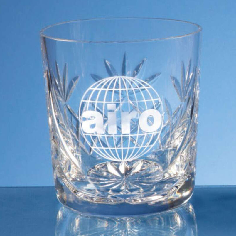 Engraved Crystal Whisky Tumblers