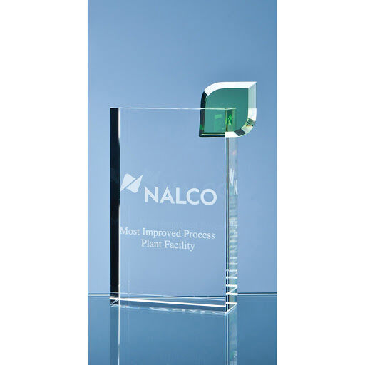 Engraved Optical Crystal Eco Excellence Awards