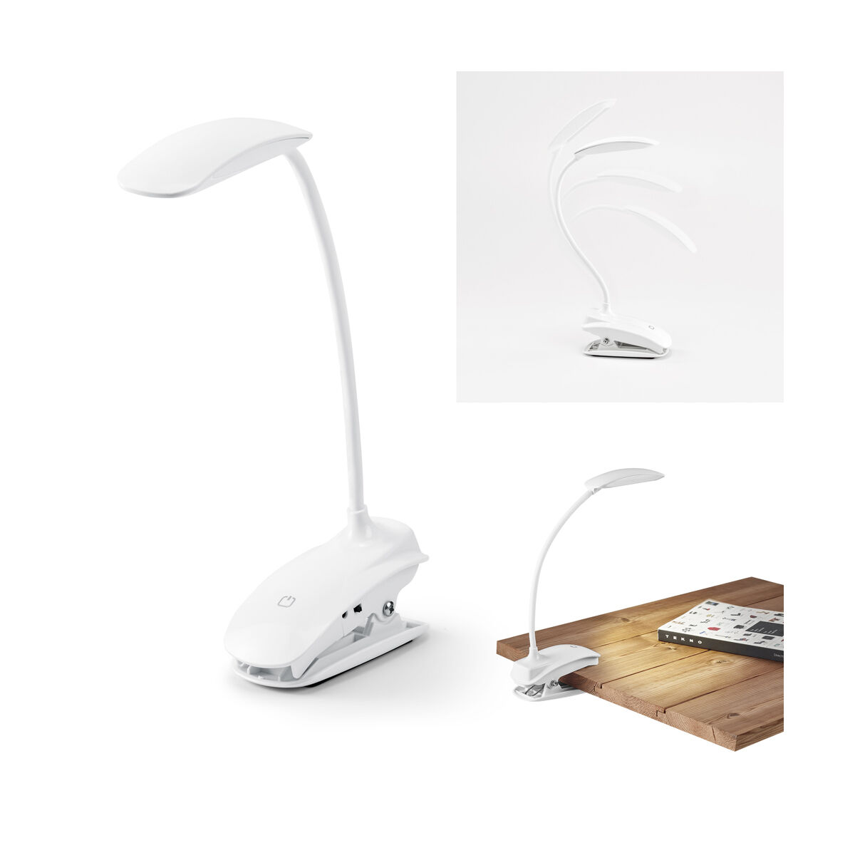 Flexible Desk Lamp With Printed Clip