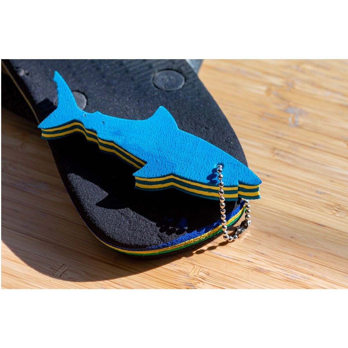 Recycled Flip-flop Floating Keyrings
