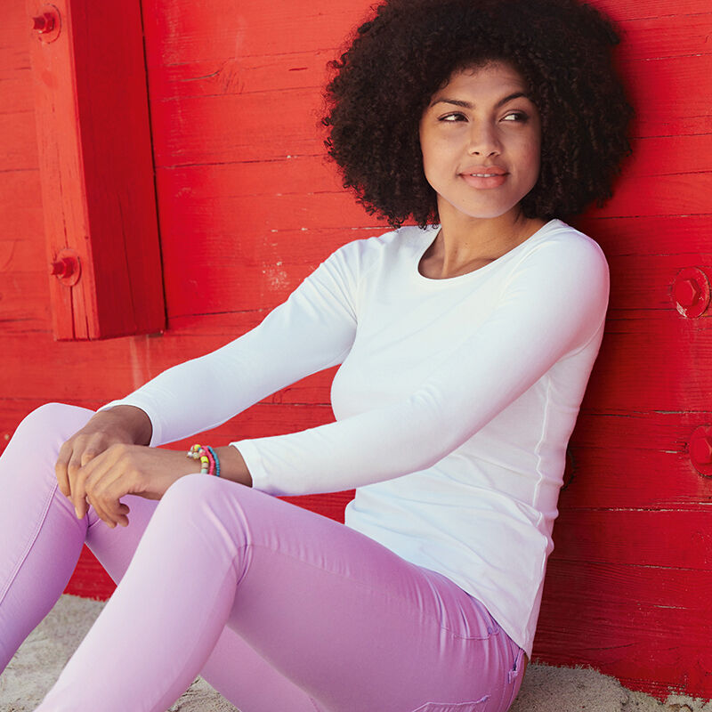 Fruit of the Loom Lady Fit Long Sleeve T Shirt