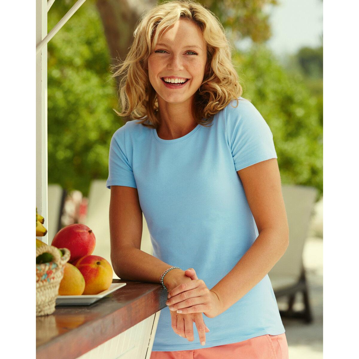 Fruit of the Loom Ladyfit T-Shirt - Sky Blue