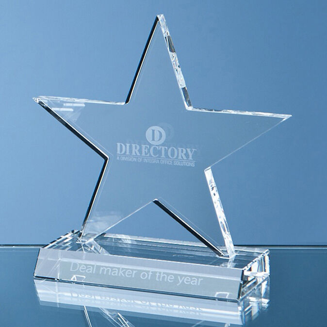 Glass Star Achievement Awards Engraved