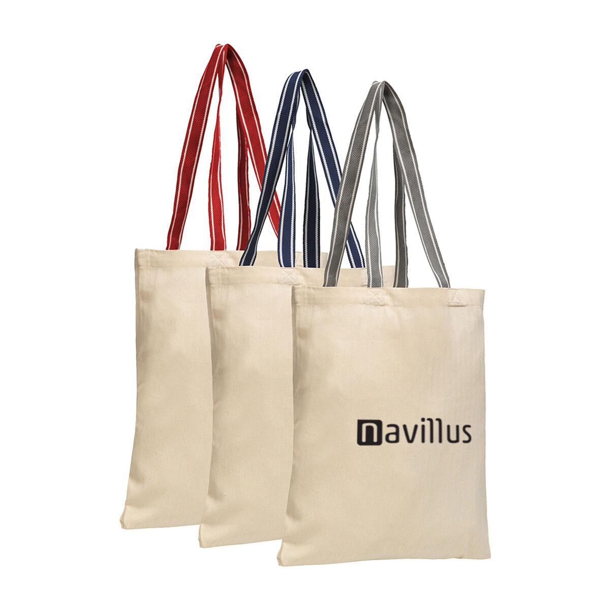 Herringbone Style Cotton Tote Bag