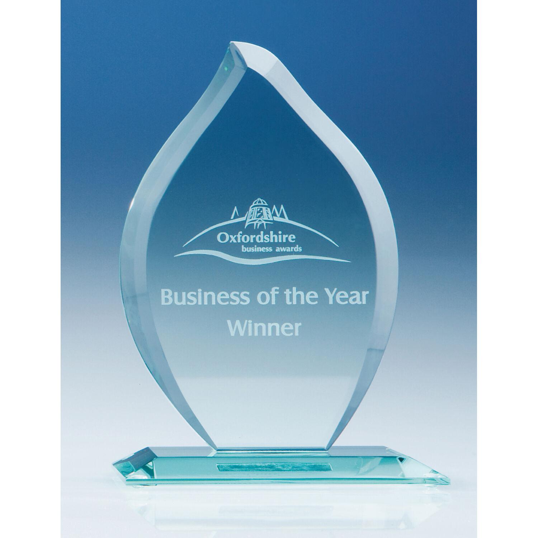 Jade Glass Engraved Awards