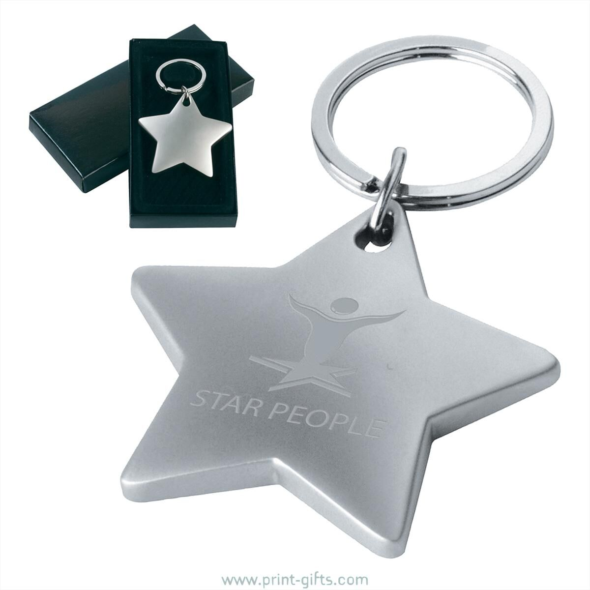 Starlight Metal Keyrings for Engraving - plain metal