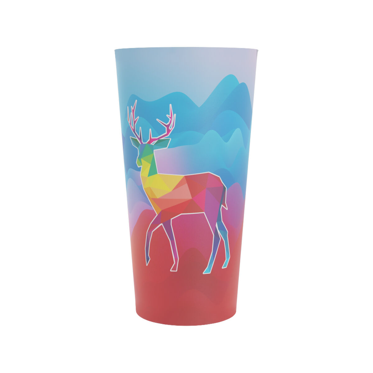Large Reusable Plastic Cups printed full colour