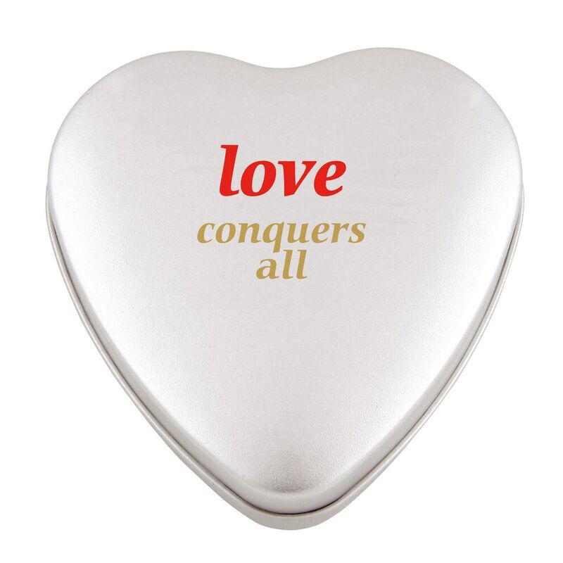 Large Heart Shaped Sweet Tin