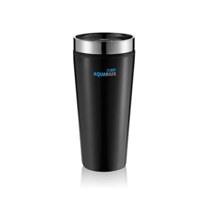 Travel Flask in Stainless Steel - Black